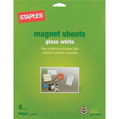Staples 174 Inkjet Magnetic Sheets 8 1 2 Quot X 11 Quot 4 Sheets