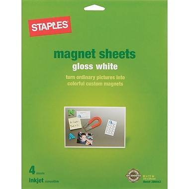 Staples® Inkjet Magnetic Sheets, 8 1/2