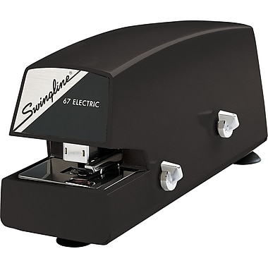 Swingline® Commercial Electric Full Strip Stapler, 20 Sheet Capacity, Black