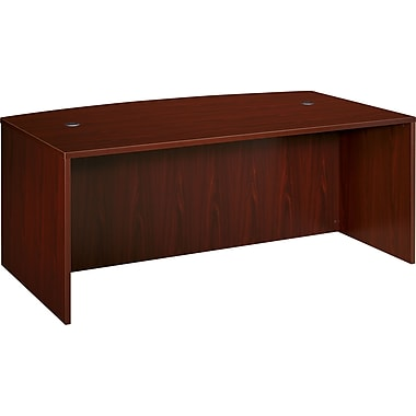 basyx by HON BL 66in. Shell Desk, Mahogany
