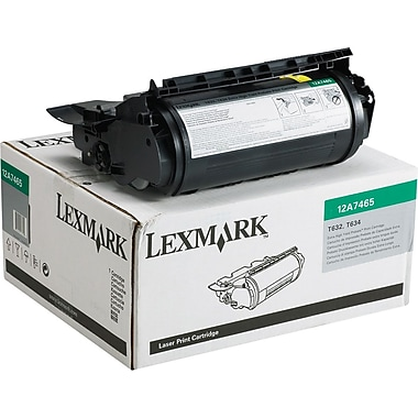 Lexmark 12A7465 Black Return Program Toner Cartridge, Extra High Yield