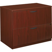 basyx by HON BL 2-Drawer Lateral File Cabinet, Mahogany