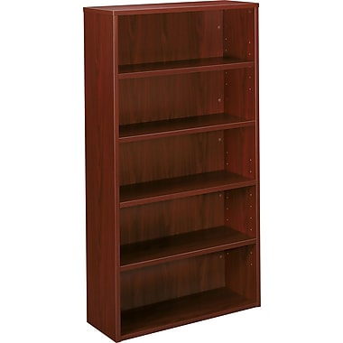 basyx™ by HON BL Collection, 5-Shelf Bookcase, Mahogany