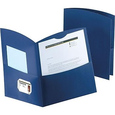 Duo-Tang Contour™ Two Pocket Portfolios, Dark Blue, 25/Box