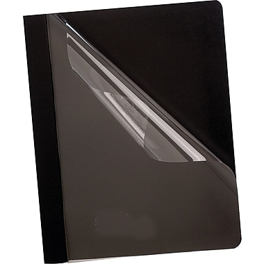 Oxford® Deluxe Clear Front Report Covers, Black