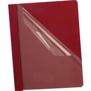 Oxford Clear-Front Report Covers, Red