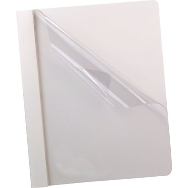 Oxford® Deluxe Clear Front Report Covers, White