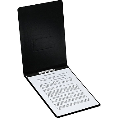 Oxford® PressGuard Report Cover with Top Hinge, 8 1/2in. x 14in., Black