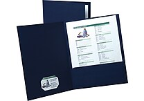 Esselte Oxford Linen 2-Pocket Folders Black 25/Box