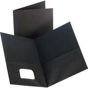Staples® 2-Pocket Folder, Black