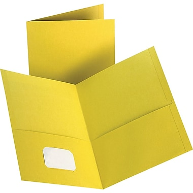 Staples® 2-Pocket Folder, Yellow
