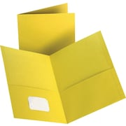 Staples 2-Pocket Folder, Yellow, 10/PK (13385-CC)
