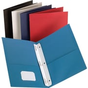 Staples® 2-Pocket Folder with Fasteners, Assorted