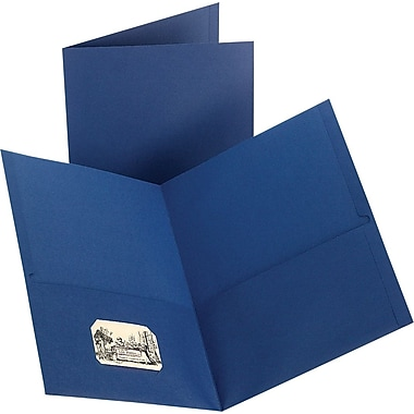 Staples 2-Pocket Folder, Dark Blue, 10/PK (13377-CC)