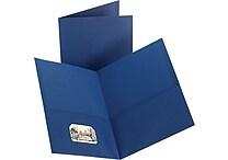 Staples® 2-Pocket Folder, Dark Blue
