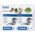 Epson T0601 Black Ink Cartridges (T060120-D1/D2), 2/Pack