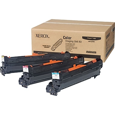 Xerox Phaser 7400 Cyan/Magenta/Yellow Imaging Units (108R00697), 3/Pack