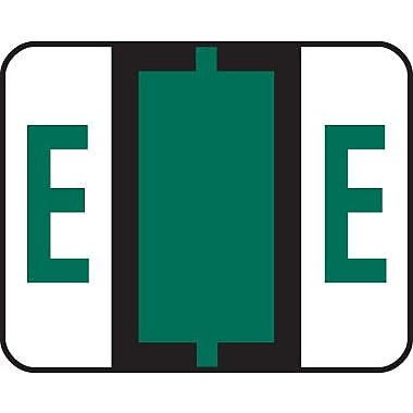 Smead® End-Tab Bar Style Color-Coded Labels, in.Ein., Dark Green