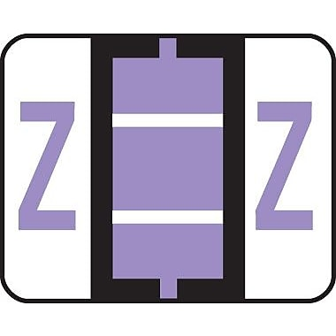 Smead® End-Tab Bar Style Color-Coded Labels, in.Zin., Lavender