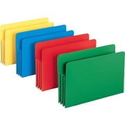 Smead® Poly Expanding File Pockets, Legal, 3 1/2 Expansion, Assorted, 4/Pack