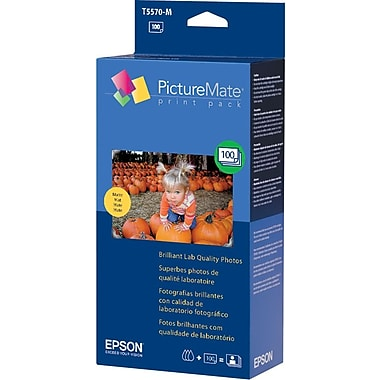 Epson T5570-M Tricolor 100-Sheet Matte Photo Value Pack