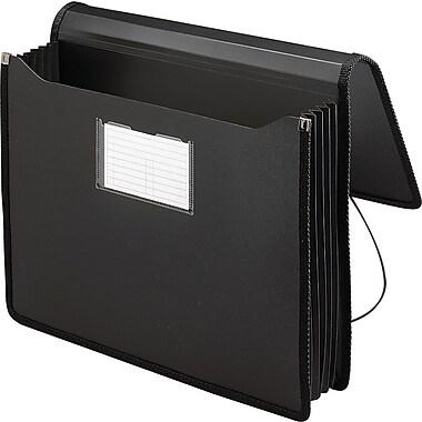 Smead® Premium Poly Expanding Wallet, Letter, Black, Each