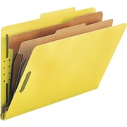 Smead® Colored Pressboard Classification Folders, Legal, 2 Partitions, Yellow, 10/Box