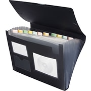 Staples Poly Expanding File, Letter, Black, Each
