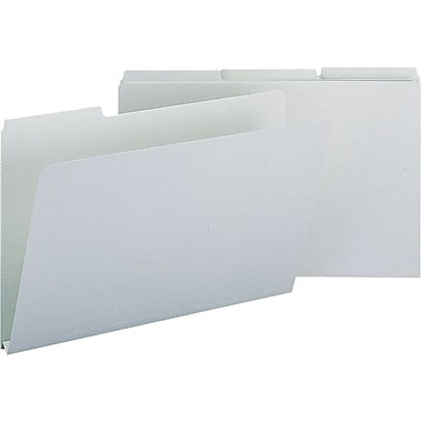 Smead® Colored Pressboard File Folders, 3 Tab, Legal, Gray/Green, 25/Box