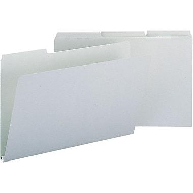 Smead® Colored Pressboard File Folders, 3 Tab, Legal, Gray/Green, 25/Box