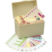 "Smead® Alpha-Z® NCC Color-Coded Name Labels, 5 Labels Per Sheet, Assorted Colors, 1 5/32""H x 3 1/8""W, 1,500 Labels/Bx"