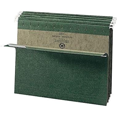 Smead® Standard Green Hanging File Folders, Single Tab, Letter, 25/Box