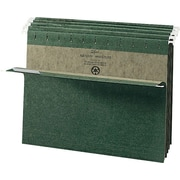 Smead® Standard Green Hanging File Folders, Single Tab, Letter, 25/Box