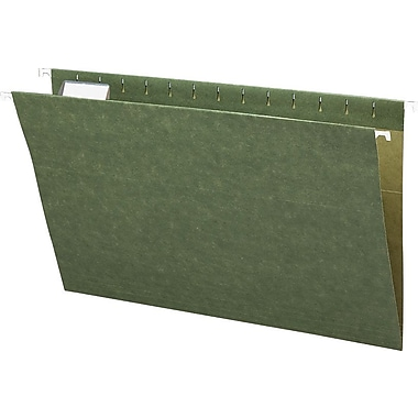 Smead® Standard Green Hanging File Folders, 5 Tab, Legal, 25/Box