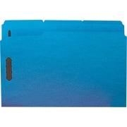 Staples® Colored Reinforced Tab Fastener Folders, Legal, Blue, 50/Box