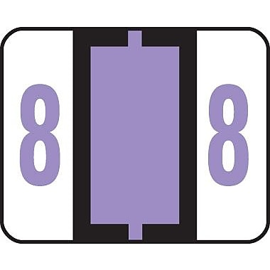 Smead® End-Tab Bar Style Numeric Color-Coded Labels, 8-Lavender