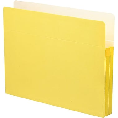 Smead® Colored File Pockets, Letter, 1 3/4in. Expansion, Yellow, Each