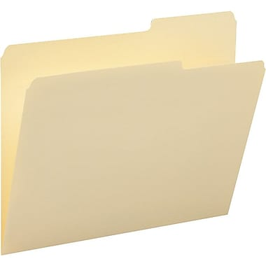 Smead® Single-Ply Tab File Folders, Letter, 3 Tab, Assorted Positions, 100/Box