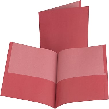Oxford 100% Recycled 2-Pocket Folders, Red, 10/Pack