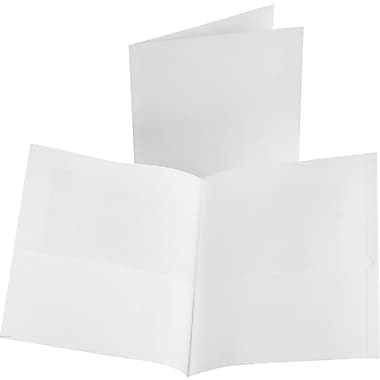 Oxford Linen 2-Pocket Folders, White