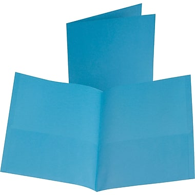 Oxford 2-Pocket Folder, Light Blue, 25/Box