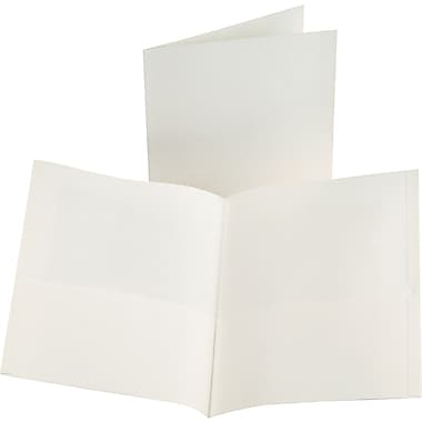 Oxford 2-Pocket Folder, White, 25/Box