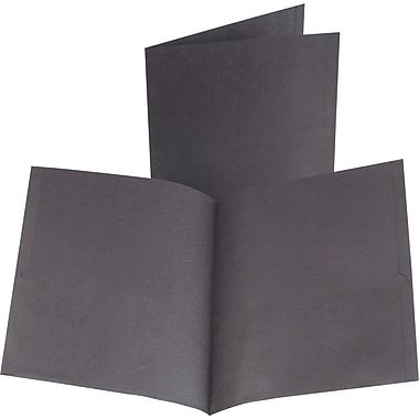 Oxford 2-Pocket Folder, Black, 25/Box