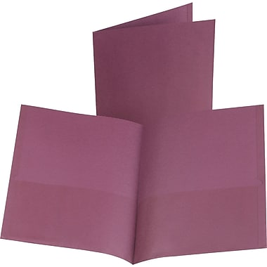 Oxford 2-Pocket Folder, Burgundy, 25/Box