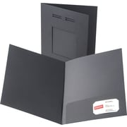 Oxford Laserview Premium 2-Pocket Folders, Black