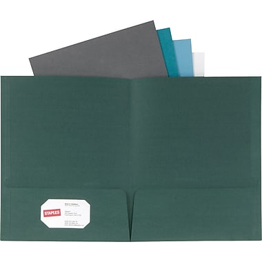 Oxford Linen 2-Pocket Folders