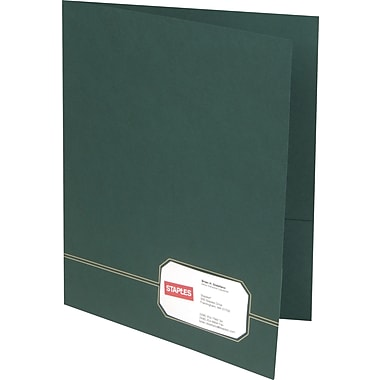 Oxford Design Monogram 2-Pocket Folders, Green/Gold