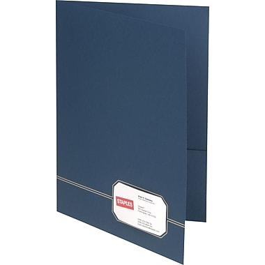 Oxford Design Monogram 2-Pocket Folders, Blue/Gold
