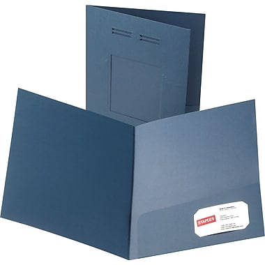 Oxford Laserview Premium 2-Pocket Folders, Blue
