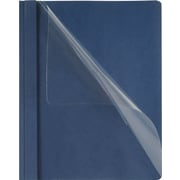 Oxford Clear-Front Linen-Like Report Covers; Dark Blue